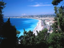 Blick auf Nizza, Provence Alpes Cote dAzur, Frankreich