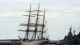 Segelschulschiff 'Gorch Fock' in Valparaiso