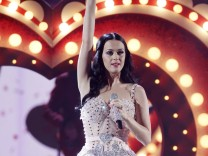 Singer Katy Perry performs 'Teenage Dream' at the 53rd annual Grammy Awards in Los Angeles