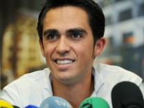 Alberto Contador Press Conference After Testing Positive For Banned Substance