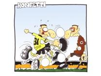 Sport Comic/ Fußballgötter/ Konfetti