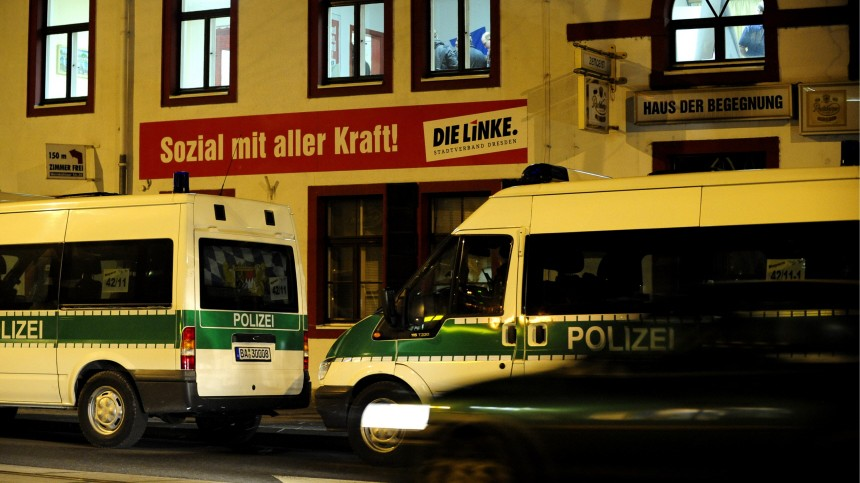 Zentrale der Linkspartei in Dresden