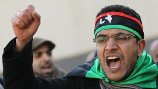 Protest At Libyan Embassy In Berlin