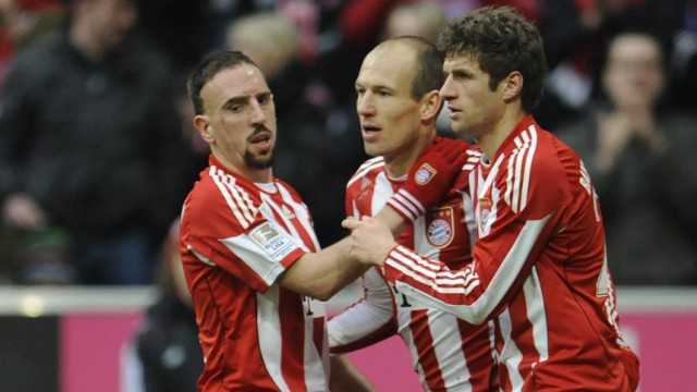 Ribery und Robben zaubern Müller frei