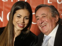 Austrian businessman Lugner and El Mahroug of Morocco known as Ruby Rubacuori attend a news conference in Vienna
