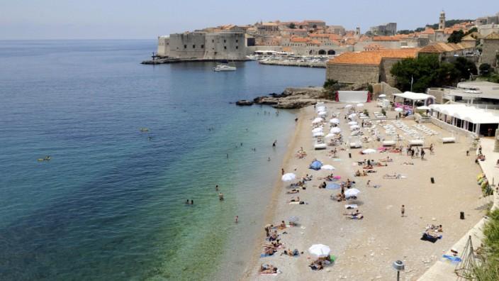 Strand von Dubrovnik in Kroatien
