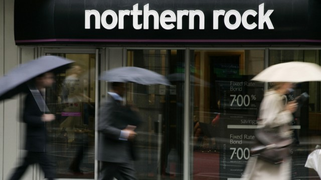 Banken Pleite-Bank Northern Rock
