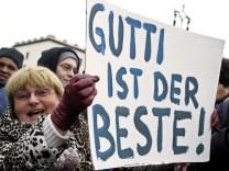 Solidaritaetsdemonstrationen fuer Karl-Theodor zu Guttenberg