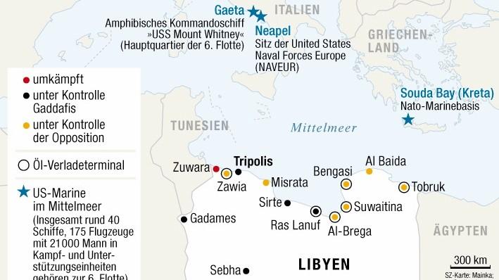 Libyen Kämpfe Ölhäfen US-Marine Navy Mittelmeer