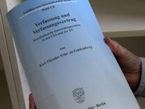 File photo of Dissertation of German Defence Minister Guttenberg