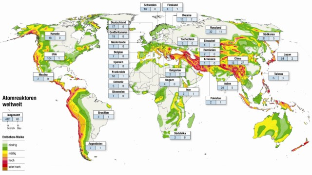 Kernkraftwerke Erdbeben
