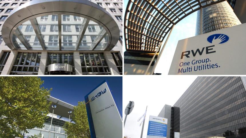 Kernkraftwerksbetreiber Eon, RWE, EnBW, Vattenfall