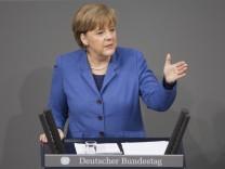 Bundestag -  Regierungserklärung Merkel