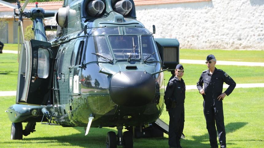 """´Bild am Sonntag"""": Merkels Hubschrauber fast abgestürzt"""