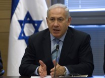 Israel's Prime Minister Netanyahu speaks during a Likud party meeting at the Knesset in Jerusalem