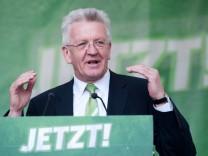 Erster grüner Regierungschef Deutschlands? Der Spitzenkandidat der baden-württembergische Grünen für die Landtagswahl, Winfried Kretschmann