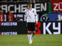 Germany's Schweinsteiger leaves the pitch during their Euro 2012 Group A qualifying soccer match against Kazakhstan in Kaiserslautern