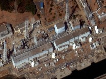 Satellite file image shows the damaged Fukushima Daiichi Power Plant