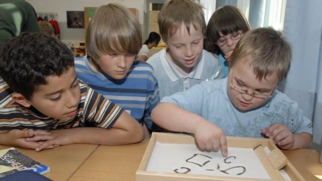 Integrationsklasse für geistig Behinderte in München, 2007