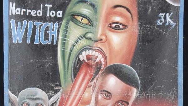 "Afrikanische Filmplakate, ""Deadly and Brutal"", Filmplakate aus Ghana, Pinakothek der Moderne"