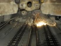Letzte Schienen im Leipziger City-Tunnel werden verlegt