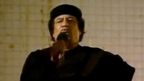 Gaddafi hält Rede