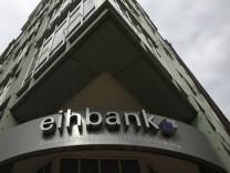 General view of the entrance to the European-Iranian Trade Bank AG eihbank (Europaeisch-Iranische Handelsbank) in the northern German town of Hamburg