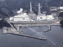 An aerial view shows Onagawa Nuclear Power Plant is seen at Miyagi Prefecture in this photo taken by Yomiuri Shimbun