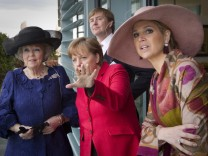 Angela Merkel, Queen Beatrix, Crown Prince Willem-Alexander, Princess Maxima