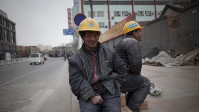 Bauarbeiter in Peking