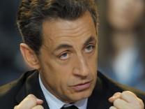 Frankreich Präsident Nicolas Sarkozy Krieg Libyen Gaddafi