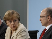German Chancellor Merkel addresses media after a prime ministers meeting in Berlin