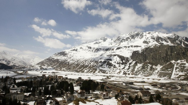 A general view shows the central Swiss town of Andermatt