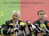 Pressekonferenz zu Koalitionsverhandlungen in Baden-Wuerttemberg