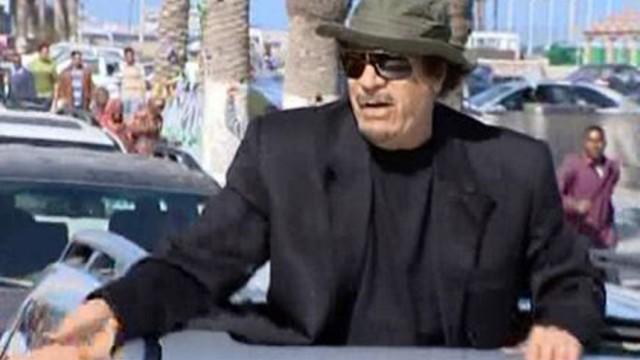 Libyan Leader Gaddafi in Tripoli