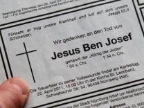 Todesanzeiger für Jesus