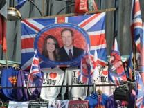 Vorbereitungen zur Prinzenhochzeit in London