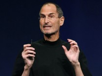 File photo of Apple Inc. CEO Steve Jobs during an Apple event in San Francisco