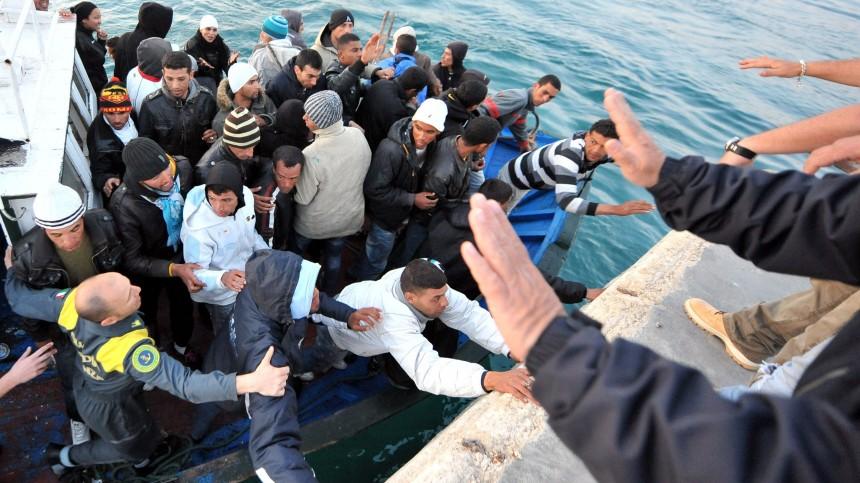 Flüchtlinge erreichen die Festung Europa