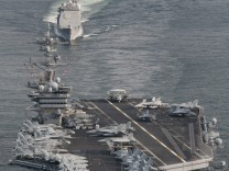 US Navy handout photo of the aircraft carrier USS Carl Vinson