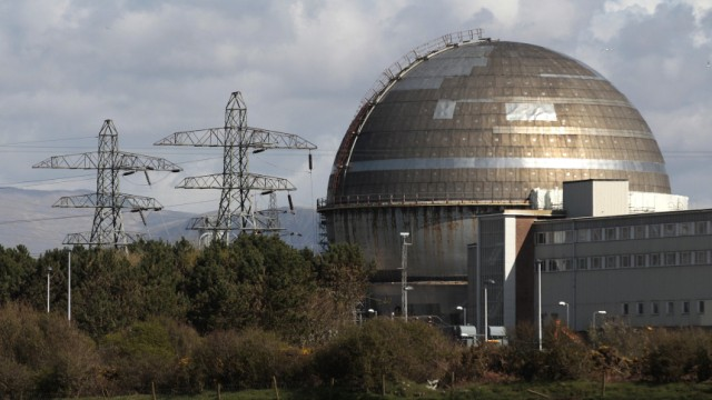 File photo shows a view of the Sellafield nuclear reprocessing site near Seascale in Cumbria, England