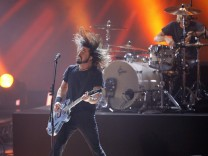 Lead singer Dave Grohl of Foo Fighters performs You're So Vain at The Grammy Nominations Concert Live! Countdown to Music's Biggest Night in Los Angeles