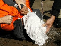Folter waterboarding at the Justice Department in Washington