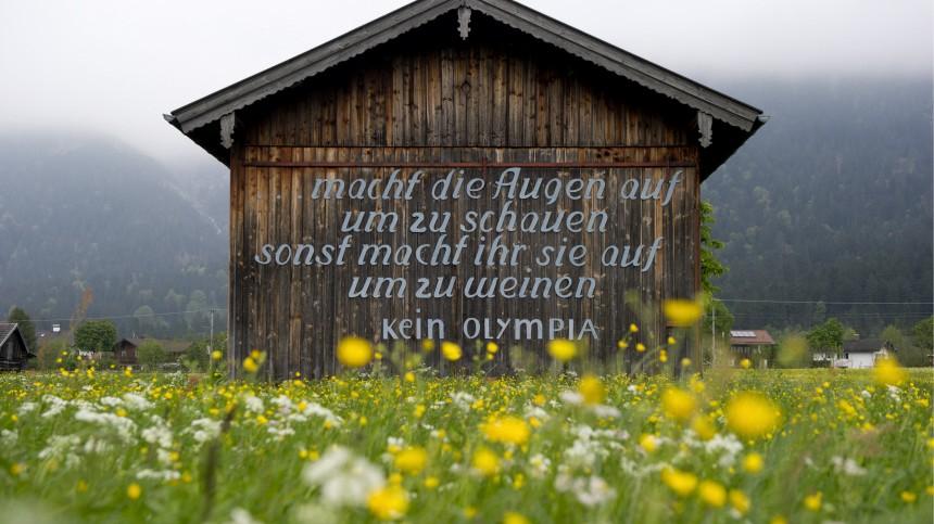 Garmisch vor dem Buergerentscheid zu Olympia 2018