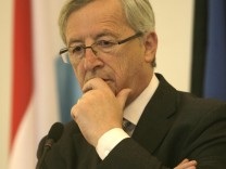 Luxembourg's Prime Minister Jean-Claude Juncker attends a news conference in Tallinn