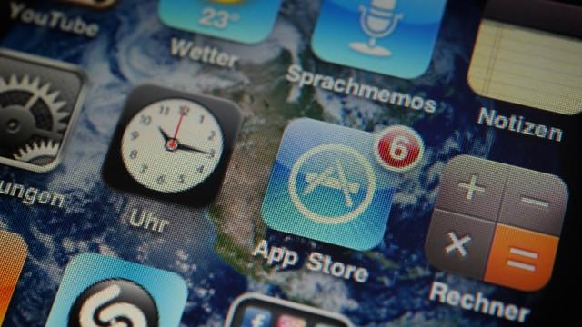 Smartphone Handy Apps Display Appstore