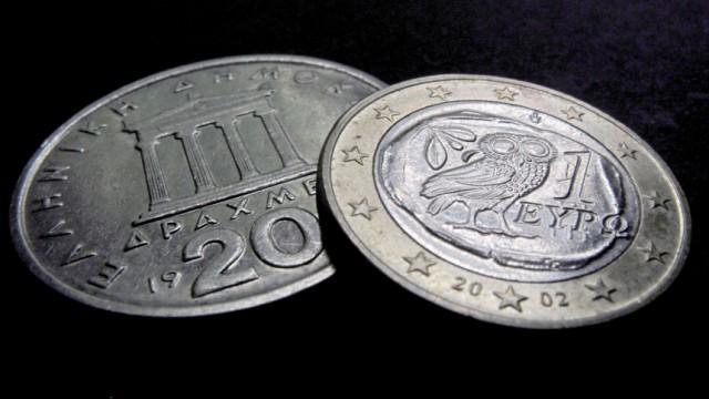 Drachmen und Euro