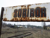 A view of the Sobibor train station in Poland