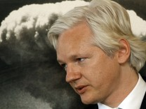 WikiLeaks founder Julian Assange speaks during a news conference at the Frontline Club in London