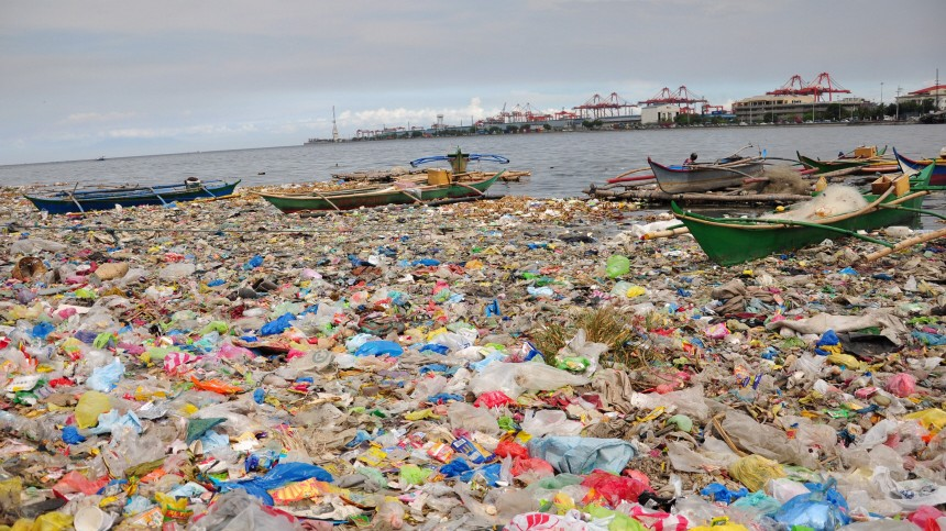 Polluted Manila Bay
